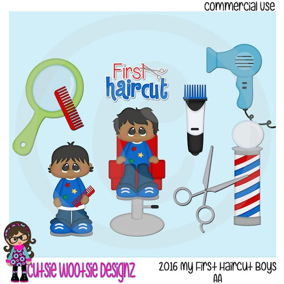 Items similar to 2016 My First Haircut Boy AA African ...