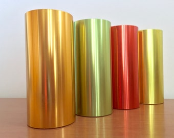 Vintage Midcentury Aluminum Tumblers -- Set of 4