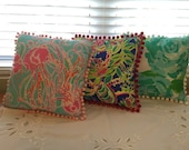 Lilly Pulitzer Fabric Pillow