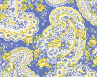 Yardage:   SUMMER BREEZE - Floral Paisley Garden Light Blue - Cornflower - #32591-14 - One Half Yard - by Sentimental Studio for Moda
