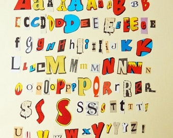 Scrapbooking Alphabet Letters, Vintage Typography Letters, Junk and Smash books, Journals, Greetings