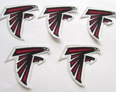 "Atlanta Falcons  ""NO SEW"" Appliques 5 falcons"