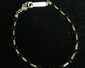 Napier Black and Silver Bracelet