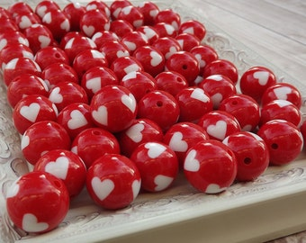 Red Heart 20mm Chunky Beads