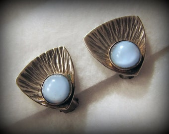 """Vintage ULRICH/DENMARK Sterling Silver Clip Earrings -- 13/16"""" Square, Excellent Condition, Matching Brooch Available!"""