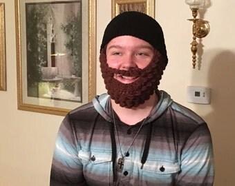 Beard Beanie,Teen Beard Beanie,Crochet Beard Beanie,Beard Beanie,Winter Hat,St. Patrick's Day,Birthday Gift,St. Patrick's Day