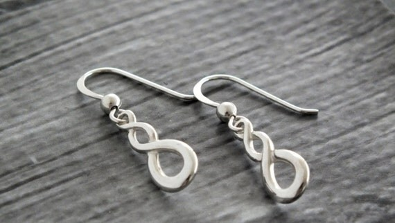 Mothers  gift/Sterling Silver Infinity Earrings Infinity Dangle Infinity Jewelry Dangle Earrings Handmade Infinity