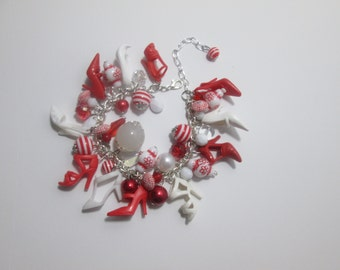 Barbie Shoe  Bracelet/ Red and White / item 4-115