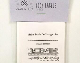 Bookplate Stickers (10)