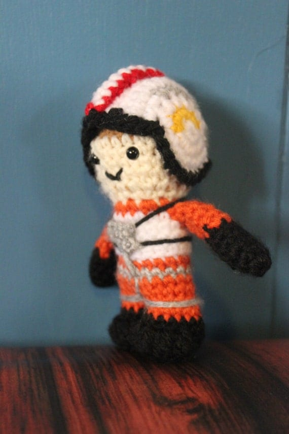 Wing Pilot Crochet Doll - Star Wars Amigurumi - Crochet Poe Dameron ...