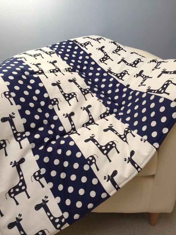 Plush baby play mat padded floor blanket personalize navy for Floor quilt for babies