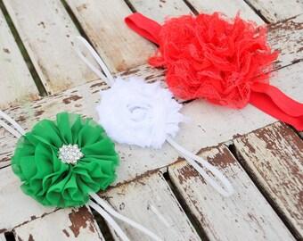 Set of Three Headbands- Girls Headband- Rosette Headband- Baby Headband- Baby Shower Gift