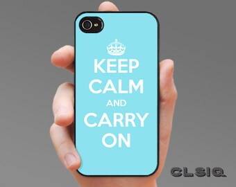 Keep Calm and Carry On Case (Turquoise) for iPhone 6/6S, 6+/6S+, 5/5S, 5C, 4/4S, Samsung Galaxy S6, Galaxy S5, Galaxy S4, Galaxy S3