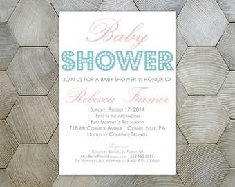 Marquee Lights // Gender Neutral Baby Shower Invite