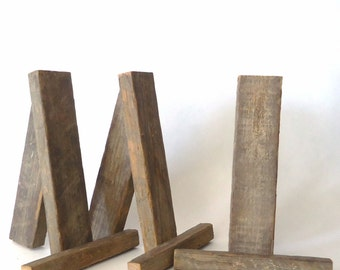 rustic tabletop easels, wedding signs stands, party supplies, display, wedding decorations, party decorations,set of 3 small easels
