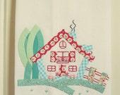 recreate a sweet cottage flour sack tea towel