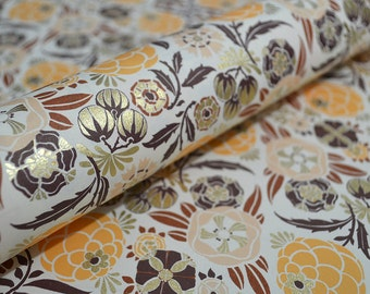 Rossi Fine Paper *NEW* 2016 - Liberty Flowers in Peach & Orange