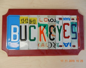 Buckeyes License Plate Sign Ohio State Buckeyes (Made to Order)