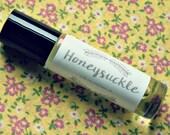 Honeysuckle Perfume Oil - roll on perfume - coconut oil perfume - 10ml glass bottle