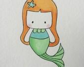 Oceane the Mermaid Watercolor