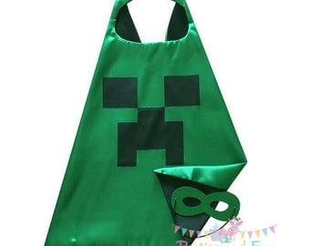 Minecraft Party Favors, Minecraft Cape, Minecraft Mask, Minecraft Birthday Party, Minecraft Toy, Minecraft Costume, Minecraft Creeper