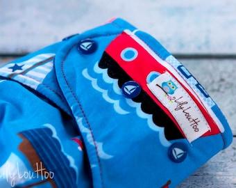 """AI2 Cloth Diaper- """"Boats"""""""
