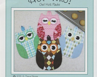 Hot Who Owl Oven Mitt Potholder Pattern to Make DIY Sewing Susie Shore Designs