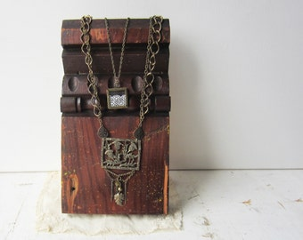 Adjustable Necklace Display - Antique Architectural Salvage - Recycled Wood - Retail Jewelry Display - LAST ONE - Ready to Ship