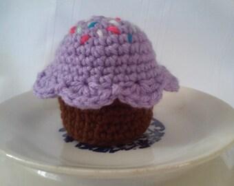 Cupcake, Crochet Cupcake, Cupcake Toy, Play Food, Amigurumi Cupcake, Cupcake Pincushion