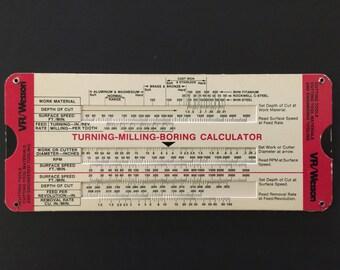 Vintage Slide Charts Fansteel VR/Wesson Turning Milling Boring Calculator
