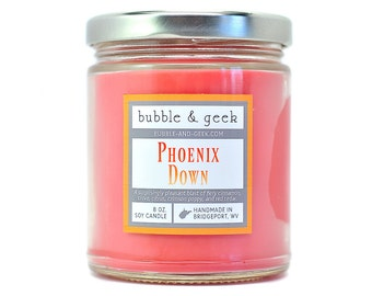 Phoenix Down Scented Soy Candle Jar - Cinnamon
