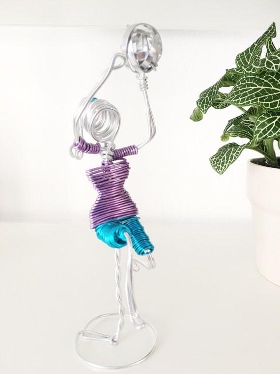 Wire Sculpture Volleyball Player