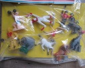 Dime Store Vintage Toys Circus Animals and Performers NOS Novelty Toys