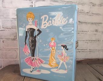 Blue Barbie Doll Case Vintage Mattel Collectible Barbie