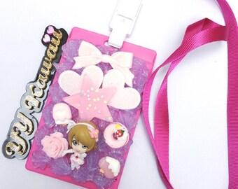 Hanayo Love Live! decoden ID card holder and lanyard