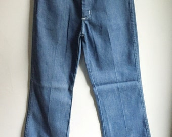 Wrangler Cropped Flare Jeans 1980s Deadstock Size 0