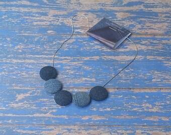 Denim Drop Necklace
