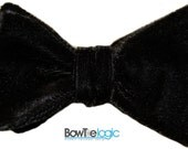 Classic Black Velvet Self Tie Bow Tie