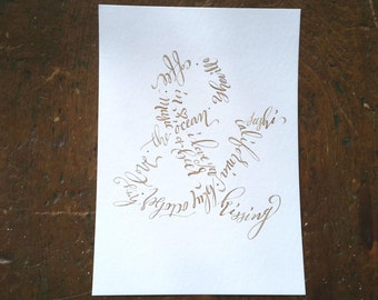 Ampersand Customizable Art for You and Your Significant Other, Calligraphy