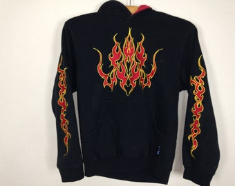 flame fire hoodie jacket size XS
