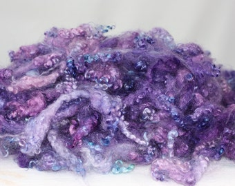 Soft and Fluffy Yearling Grade Mohair Locks from ANNALISE, 1oz  Dyed For Spinning, Felting