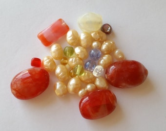 Vintage glass beads