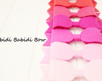 Large felt bows -set of 7-Headbands or Hair clips- Girls Hair Bow -Hair accessories- Baby shower gift- Birthday gift / You can choose colors