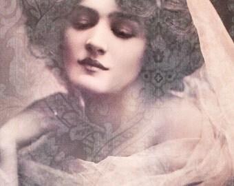 Vintage image altered art,Lily Elsie,actress,vintage art,vintage photo,Image Instant Download.