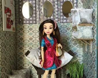 """SALE!!-17"""" Asian Inspired Monster High Doll Diorama"""