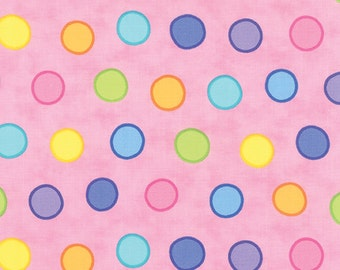 Dot Dot Dash Bubble Dots 22262-11 in Multi Pink by Me & My Sister Designs for Moda