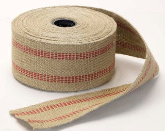 """Natural Burlap Strapping 3.5"""" Wide by the Yard"""