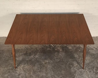 Walnut Mid-Century Modern Dining Table W/Extension By Hy-Lan Furniture - SHIPPING NOT INCLUDED