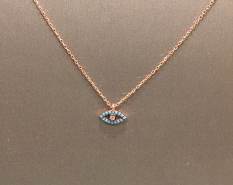 Turquoise Open Eye Necklace