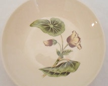 ON SALE Vintage Set of Two Sun-Lure by Crooksville Usa, 1- Berry Bowl, 1- Bread and Butter Plate, Flower, Yellow, Green, Cottage Chic